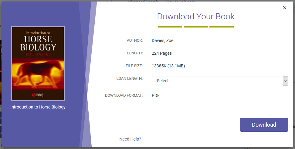 Downloading e-books loan length