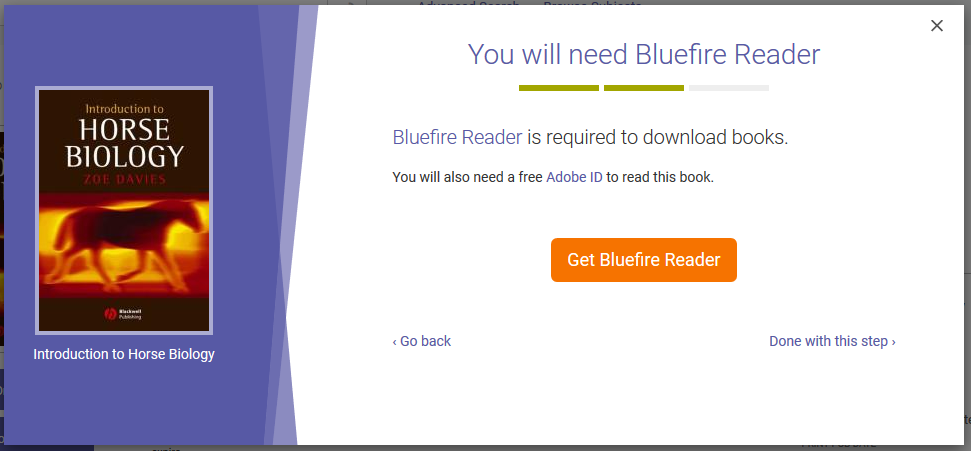 Downloading to Android Bluefire Reader