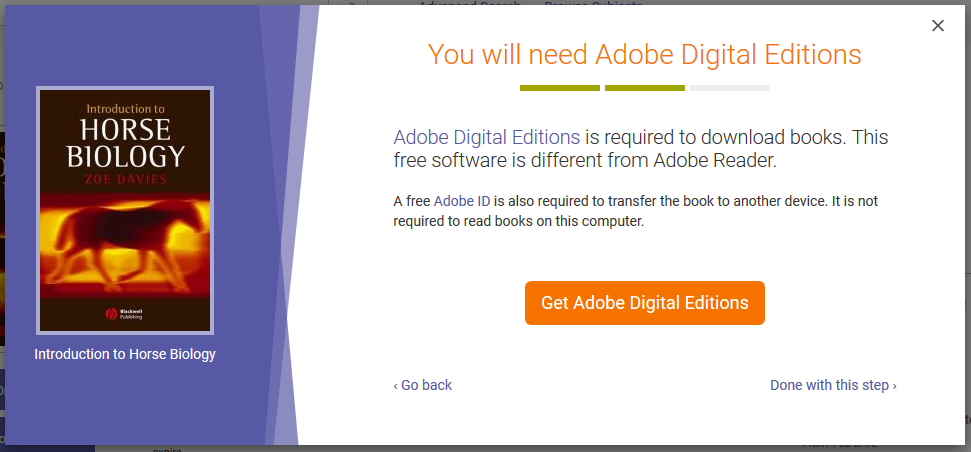 Downloading to PC Adobe Digital Editions