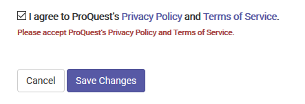 Setting Privacy Policy Terms of Service